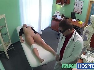Bony platinum-blonde whips abroad vag and permits medic to boink it pornvideo