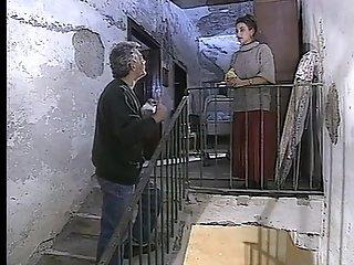 Big-titted Italian mummies drain spunk from gigantic stiffys in vintage low-down movie sex video