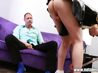 Pleasing horny shemale Natalie Mars is easy with a stiff dig up