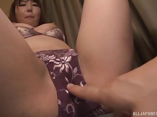 Japanese babe gets her breathe hard removed and pussy fingered