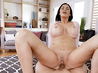 Buxom raunchy housewife stepmom wants more attention from guys