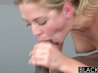 BLACKED Hot Blonde Cherie Deville Takes Big Dismal Cock