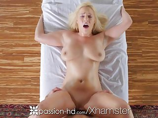 PASSION-HD Busty blonde Kylie Page oiled massage and fucked