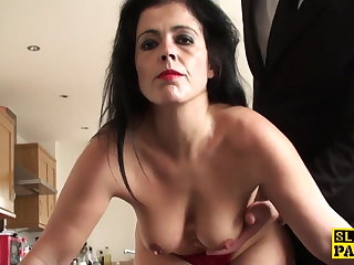 Mature sub assfucked 'til red raw and ruined