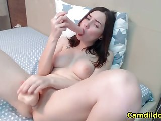 my hot stepsister stuffing her pussy