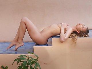 Crestfallen one piece swimsuit chiefly a smoking hot skinny blonde girl