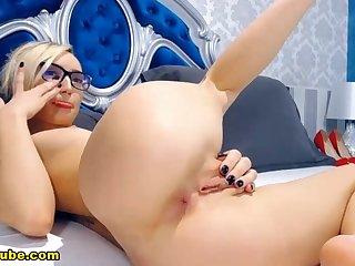 Hot Blonde Girlfriend Corps Personate And Cam Play