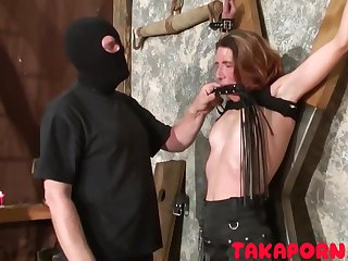 French Bdsm - Training Rub-down the Mom Slave talisman porn peel