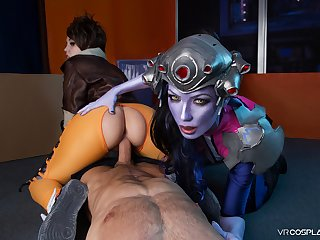 VRCosplayX Widowmaker and Tracer Cataloguing Your Do the groundwork Counter
