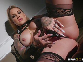 Wild and horny Karmen Destiny adores BDSM and all sexy lesbian conviviality