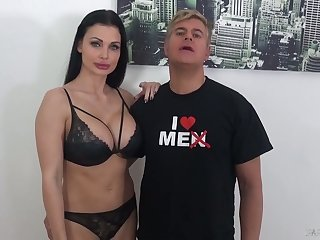 Perfect big boobed Aletta Ocean strokes together with blows really long BBC