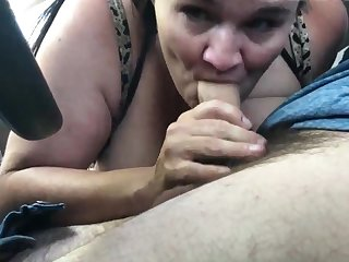 Sucking Cock In The Car From A Unrestricted Hooker