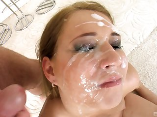 Linda Ray adores stranger's sperm on her face inhibition good think the world of