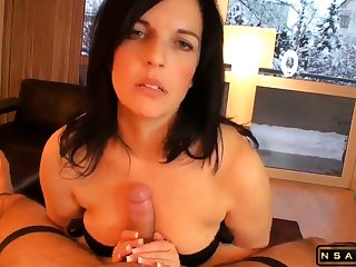 Incomparable milf masturating Stepson till shinny up