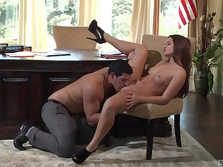 Abby Cross gets some dick at the office less a spicy play