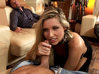 Cherry Jul craves for two fat penises deep inside her shaved holes