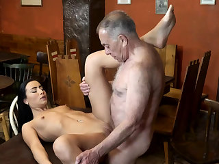 Old suppliant fuck anal and young kissing first time quip his