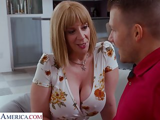 Big butt cougar is looking for sex with their way stepson's friend