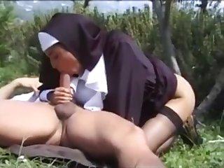 Unholy Suckle Karina White Outdoor Sexual congress
