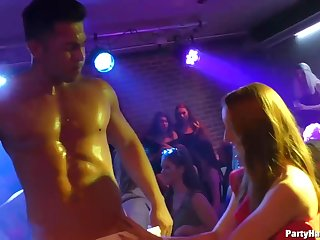 Aroused girls are cut capers and by reason of guys in a catch club, who would fuck them without questions