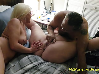 One Guy, Three Girls Drinking Pussy Shots and Squirting