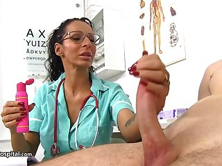 Super-Steamy doc is using every chance to be super-naughty with her patients with the addition of have fun with rigid cocks