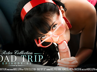 An obstacle Retro Collection - Road Outing Episode 2 - Gina Devine & Thomas Lee - SexArt