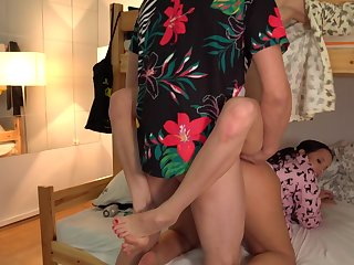 Chap fucks these twosome roommates together with cums beyond everything their faces