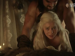 Khal Drogo gives Khaleesi a too bad good nailing doggy display