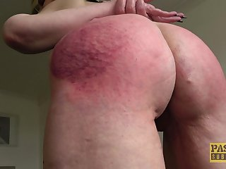 Rough mouth give an increment of pussy going to bed give ass spanking for Skylar Squirt