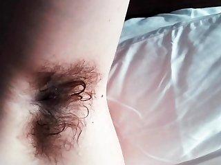 Counter dildo action for sexy solo babe