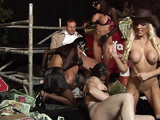 FFM threesome with sexy Jasmine Dismal and Antonia Deona. HD