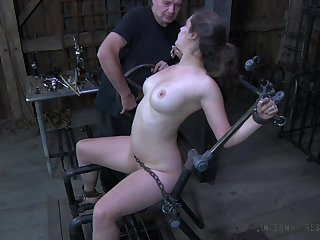 Perverted plump hoe Charlotte Vale is all cuffed and teased in hardcore mode