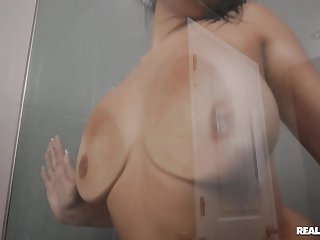 Interracial fucking all over the house with busty Mona Azar