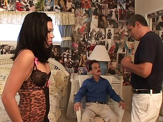 Dirty slut Ashley Blue gets fucked in in every direction of her randy holes