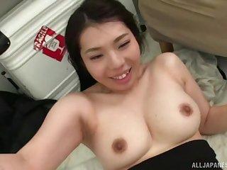 Powered babe Minatsuki Chihiro gets a creampie ending certificate sex