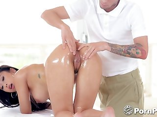 All lubed busty unlighted Jade Kush needs only slightly massage but horseshit riding workout