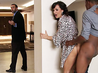 Hubby returned instantly housewife rails BIG BLACK COCK